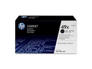 HP 49X 2-pack High Yield Toner Cartridges for laserjet 1320 (Q5949XD)&#59; black