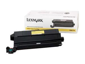 LEXMARK 12N0770 TONER CART FOR C910 C912 Yellow