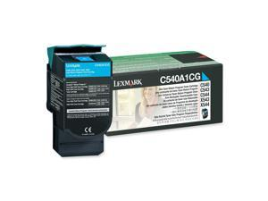 LEXMARK C540A1CG C540, C543, C544, X543, X544 Return Program Toner Cartridge Cyan