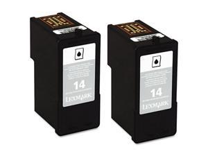 Lexmark No. 14 Black Twin Pack Return Program Ink Cartridges