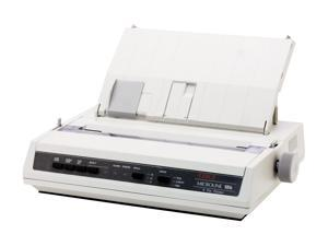 OKIDATA MICROLINE 186 (62422301) - Parallel, USB 9 pin 120V Up to 375cps 240 x 216 Dot Matrix Printer