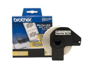 "brother DK1221 10 / 11"" x 10 / 11"" 1000 Labels Square Paper Label for QL-1050, QL-500"