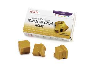 XEROX 108R00662 Genuine Xerox WorkCentre C2424 Solid Ink (3 Sticks) Yellow