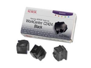 XEROX 108R00663 Genuine Xerox WorkCentre C2424 Solid Ink (3 Sticks) Black