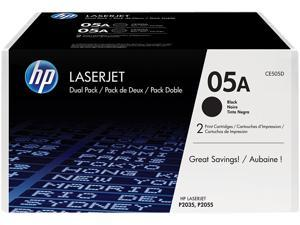 HP 05A (CE505D) Dual Pack 2,300 Pages Yield LaserJet Toner Cartridges&#59; Black