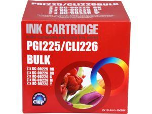 G&G RC-225/226 Combo 4 Black, 2 Cyan, 2 Magenta, 2 Yellow Ink Cartridge