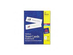 Avery 5305 Tent Cards, White, 2-1/2 x 8-1/2, 2 Cards/Sheet, 100 Cards/Box