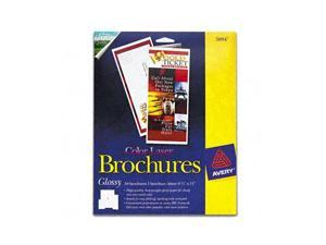 Avery Brochure Paper, Glossy, 8-1/2 x 11, White, 50 Sheets/Pack