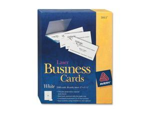 Avery                                    Laser Business Cards, 2 x 3 1/2, White, 10 Cards/Sheet, 2500/Box