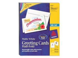Avery Inkjet-Compatible Greeting Cards with Envelopes, 5-1/2 x 8-1/2, 30/Box