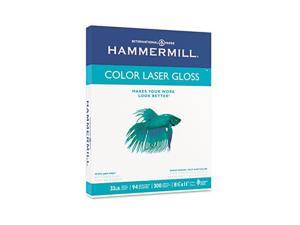 Hammermill 16311-0 Color Laser Gloss Paper, 94 Brightness, 32lb, 8-1/2 x 11, White, 300 Sheets/Pack