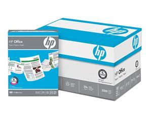 Hewlett-Packard Office Paper, 92 Brightness, 20lb, 8-1/2 x 11, White, 5000 Sheets/Carton