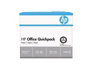Hewlett-Packard Office Paper, 92 Brightness, 20lb, 8-1/2 x 11, White, 2500 Sheets/Carton