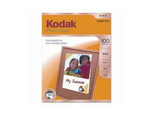 Kodak Photo Paper, Matte, 7 mil, 8-1/2 x 11, 100 Sheets/Pack