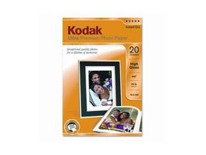 Kodak Ultra Premium Photo Paper, 76 lbs., High-Gloss, 4 x 6, 20 Sheets/Pack