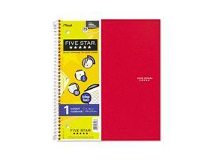Five Star 06206 Wirebound Notebook, College Rule, 3-hole punch, Poly Cover, 5 Subject 100 Sheets