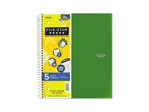 Five Star 06208 Wirebound Notebook, College Rule, Letter, White, 5 Subject 200 Sheets/Pad