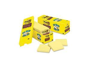 Post-it                                  Super Sticky Notes, 3 x 3, Canary Yellow, 24 90-Sheet Pads/Pack
