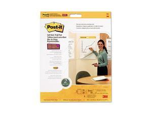 Post-it Easel Pads 566 Self-Stick Wall Easel Pad, Blank, 20 x 23, White, 4 20-Sheet Pads/Carton