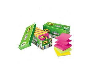 Post-it                                  Ultra Pop-Up Note Refills, 3 x 3, Assorted Colors, 18 100-Sheet Pads/Pack