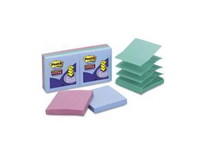 Post-it                                  Super Sticky Pop-Up Notes, 3 x 3, Tropic Breeze, 6 50-Sheet Pads/Pack