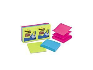 Post-it Pop-up Notes Super Sticky R330-6SSUC Pop-Up Refill, 3 x 3, 3 Jewel Pop Colors, 6 90-Sheet Pads/Pack