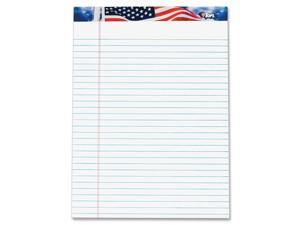 TOPS 75111 American Pride Writing Pad, Jr. Legal Rule, 8-1/2 x 11-3/4, White, 50-Sheet, Dz.