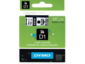 "D1 High-Performance Polyester Removable Label Tape, 1/4"" X 23 Ft, Black On Clear"