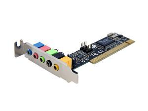 StarTech PCISOUND5LP 5 Channels PCI Interface Low Profile Sound Adapter Card – 24 Bits