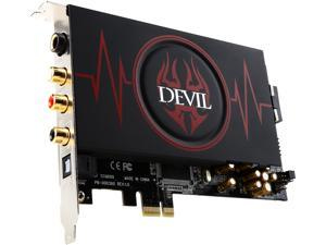 PowerColor DEVIL HDX  7.1 Channels PCI Express x1 44.1K/48K/88.2K/96K/192KHz @ 16bit/24bit Sound Card