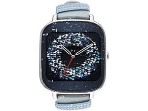 ASUS ZenWatch 2 Android Wear Smartwatch with Quick Charge & Silver Case, Swarovski Leather Band (WI502Q-SL-SW-Q) US Warranty