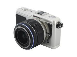 OLYMPUS PEN DIGITAL E-P1 Silver Interchangeable Lens Type Live View Digital Camera w/ Black ED 14-42mm f/3.5-5.6 Lens