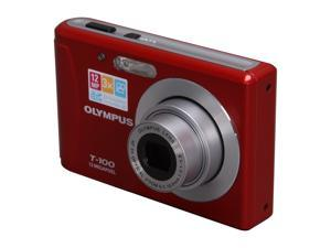 OLYMPUS T-100 Red 12 MP Digital Camera