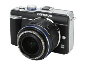 OLYMPUS PEN E-PL1 Black Interchangeable Lens Live View Digital Camera w/ Black M.ZUIKO DIGITAL 14-42mm f