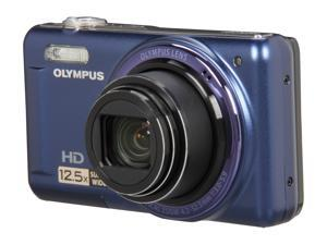 OLYMPUS VR-320 Blue 14 MP 24mm Wide Angle Digital Camera