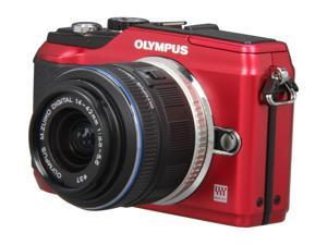 OLYMPUS E-PL2 Red Interchangeable Lens Type Live View Digital Camera w/ m14-42mm II