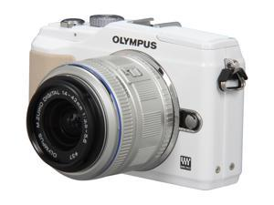 OLYMPUS E-PL2 White Interchangeable Lens Type Live View Digital Camera w/ m14-42mm II