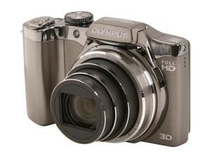 OLYMPUS SZ-30MR 228825 Silver 16 MP 25mm Wide Angle Digital Camera HDTV Output