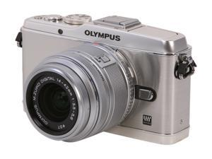 "OLYMPUS PEN E-P3 (V204031SU000) Silver 12.3 MP 3.0"" 614K OLED Touch LCD Interchangeable Lens Type Live View Digital Camera ..."