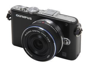 OLYMPUS PEN E-PL3 Black Digital Camera w/17mm Lens