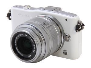 OLYMPUS  PEN E-PM1  White  Digital Camera w/14-42mm Lens