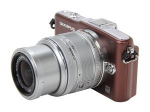OLYMPUS  PEN E-PM1  Brown  Digital Camera w/14-42mm Lens