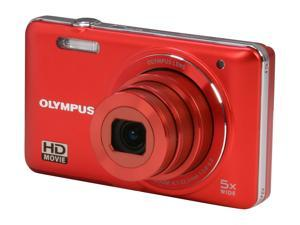 OLYMPUS VG-160 V106050RU000 Red 14 MP 26mm Wide Angle Digital Camera