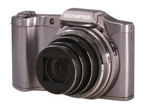 OLYMPUS SZ-12 V102081SU000 Silver 14 MP 25mm Wide Angle Digital Camera HDTV Output