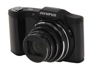 OLYMPUS SZ-12 Black 14 MP 24X Optical Zoom 25mm Wide Angle Digital Camera HDTV Output