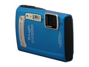 OLYMPUS TG-320 Blue 14 MP Waterproof Shockproof 28mm Wide Angle Digital Camera HDTV Output