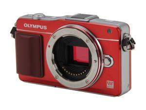 OLYMPUS E-PM2 (V206020RU000) Red Micro Four Thirds interchangeable lens system camera - Body