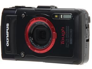OLYMPUS TG-2 iHS V104120BU000 Black 12 MP Waterproof Shockproof Wide Angle Digital Camera HDTV Output