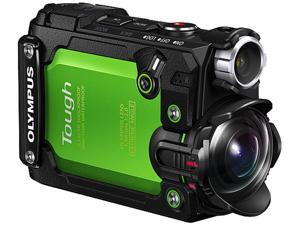 "OLYMPUS TOUGH TG-Tracker V104180EU000 Green 8 MP 1.5"" Tilt-Out LCD Display, 115K Action Camera"