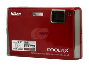 Nikon COOLPIX S60 Crimson Red 10.0 MP Digital Camera